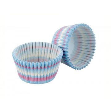 Capsulas cupcakes Azul Rayas Pasteles Tala