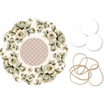 Kit para mermeladas Flores Pasteles Katie Alice