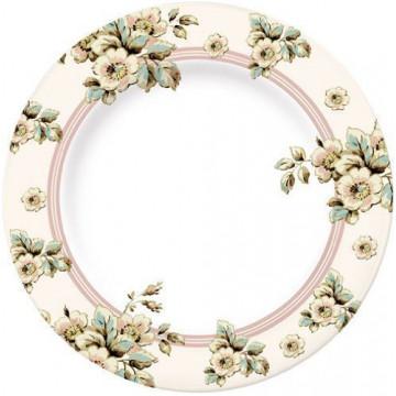 Plato de cerámica grande Flores Cottage Katie Alice