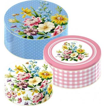 Pack de 3 latas redondas English Garden Katie Alice