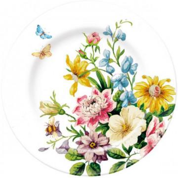 Plato de cerámica Flores English Garden Katie Alice