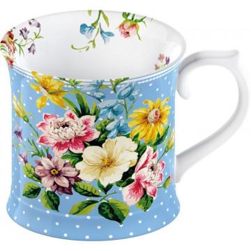 Tazón con asa Flores azul English Garden Katie Alice