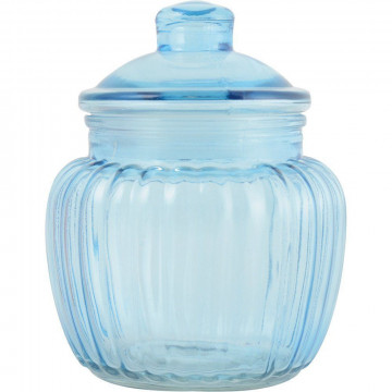 Bote de cristal para galletas Azul Creative Tops