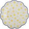 Plato de cerámica amarillo y azul blondas Creative Tops