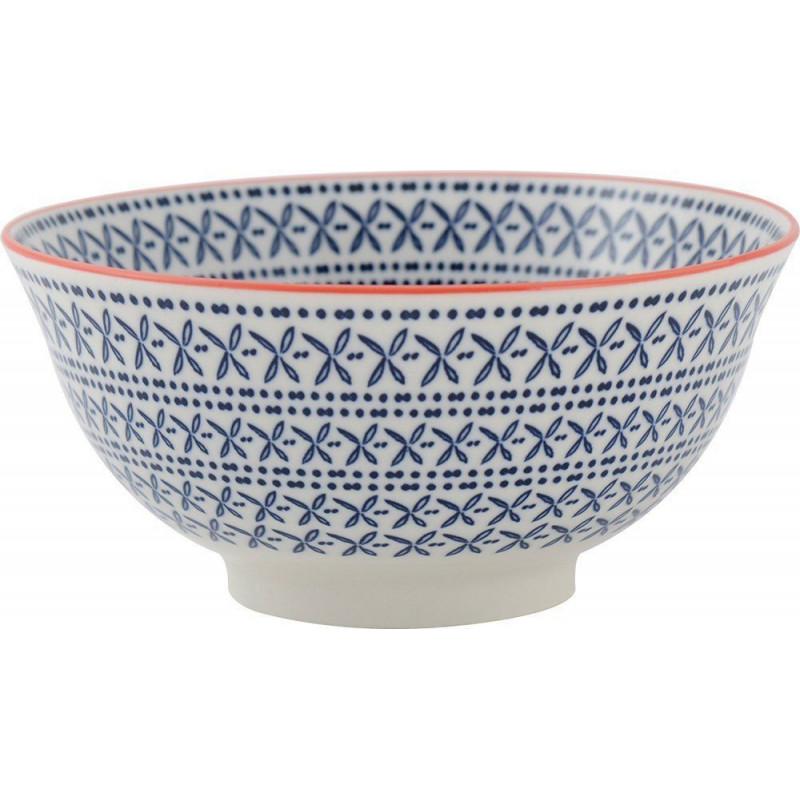 Bol de cerámica Azul y Naranja Creative Tops