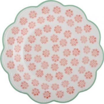 Plato de cerámica naranja y verde blondas Creative Tops