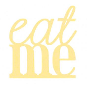 Topper para tarta Oro: Eat me