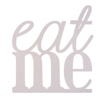 Topper para tarta Plata: Eat me