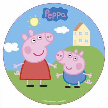Papel de azúcar 16 cm Peppa Pig