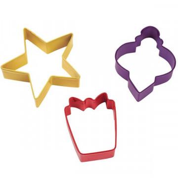 Cortante pack 3 cortantes Navidad: Girnalda, Regalo y Estrella Wilton