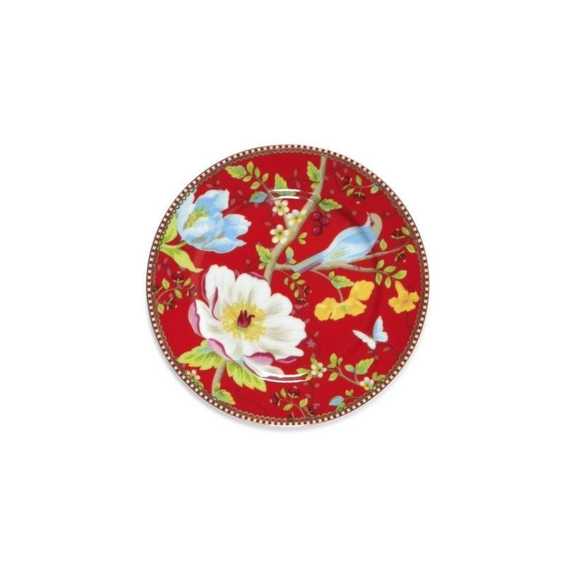 Plato de cerámica de postre 17 cm Chinese Garden Rojo PIP Studio