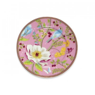 Plato de cerámica de postre 17 cm Chinese Garden Rosa PIP Studio
