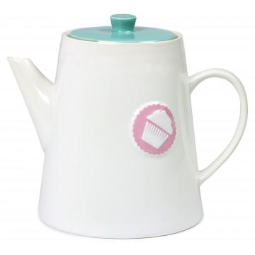 Lechera de cerámica grande Blanca con tapa Lily´s Cupcakes