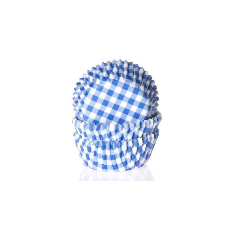 Capsulas cupcakes Cuadritos Vichy Azúl HoM