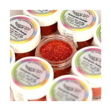 Purpurina fina Decorative Sparkles Hologram Orange Rainbowdust