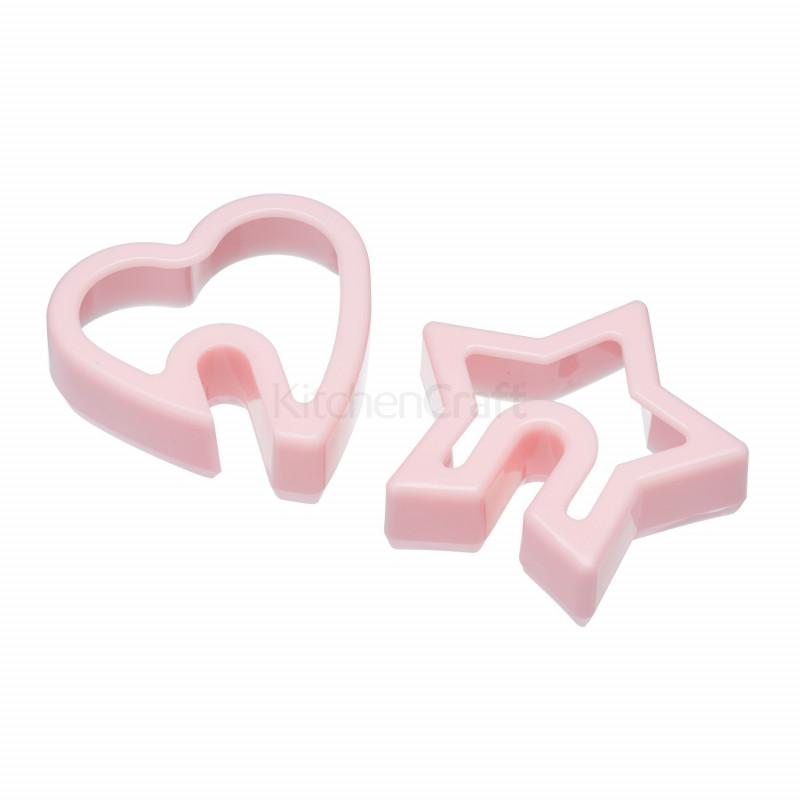 Cortante pack 2 cortantes a la taza:estrella, corazón Sweet Does it
