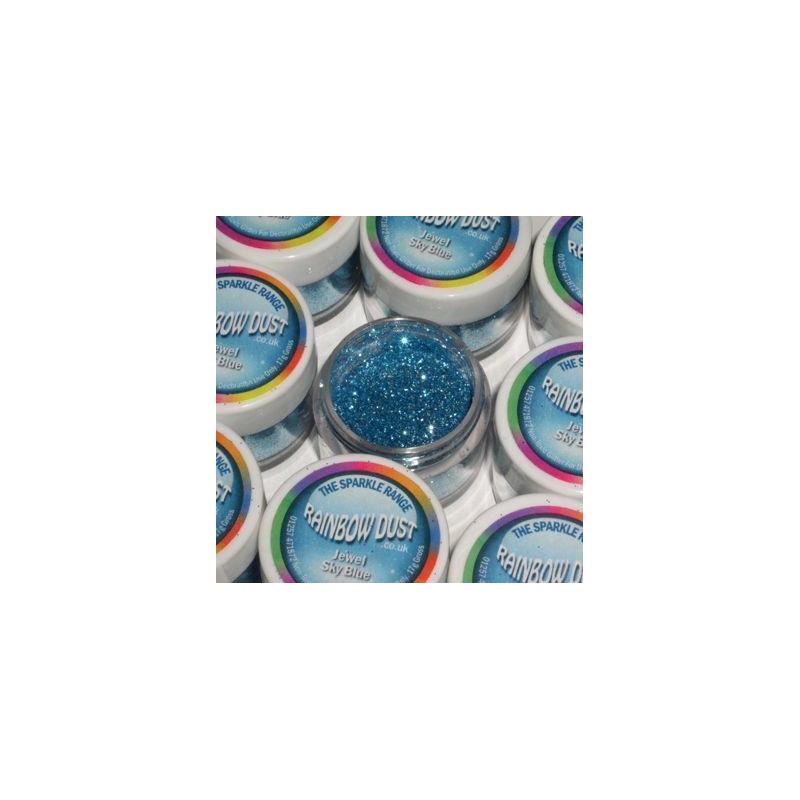 Purpurina fina Decorative Sparkles Jewel Sky Blue Rainbow Dust