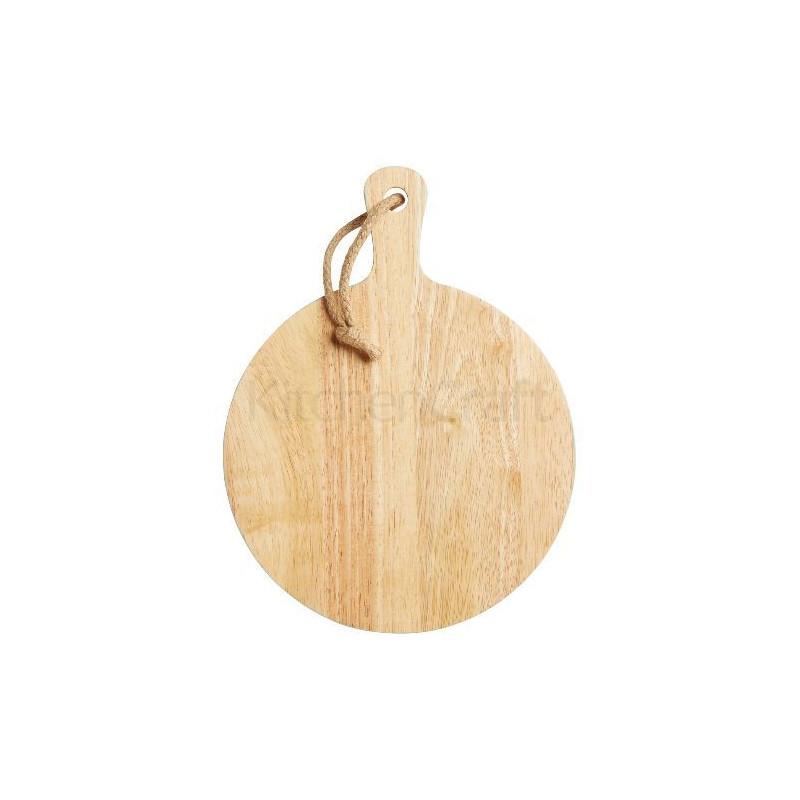 Tabla de corte de madera redonda 25cm verde menta Kitchen Craft