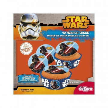 Obleas Cupcakes pack 12 Star Wars