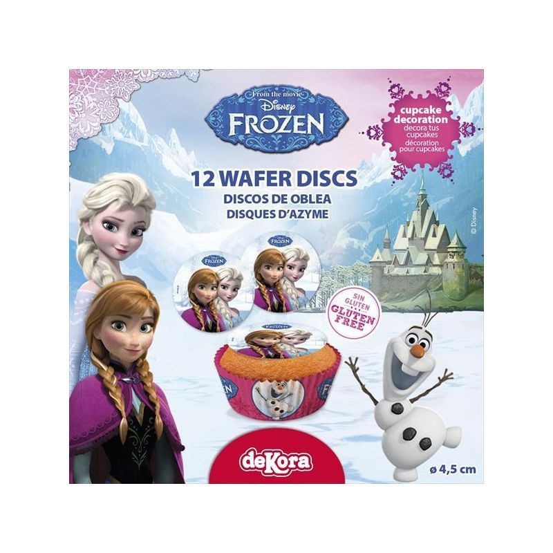 Obleas Cupcakes pack 12 Frozen