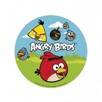Papel de azúcar 16 cm Angry Bird