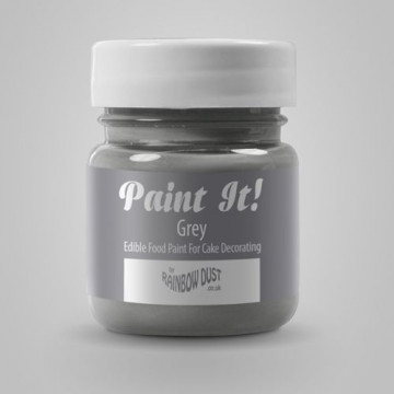 Pintura comestible Gris 25gr Rainbow Dust