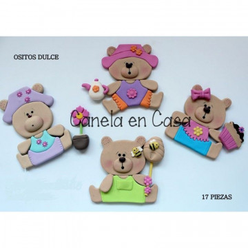 Cortante pack 11 cortantes: Ositos Dulces