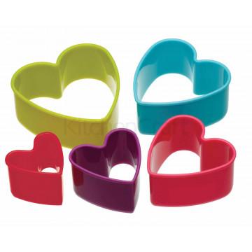 Cortante pack 6 cortantes corazón colores