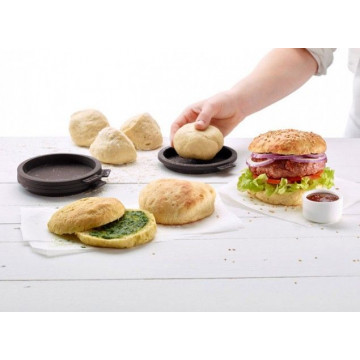 Pack 4 moldes para pan de hamburguesa Lékué