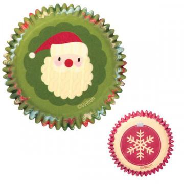 Capsulas mini cupcakes Copo nieve Rojo Homemade Wilton