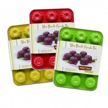 Molde mini bundt cake 12 cavidades Rojo Nordic Ware