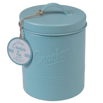 Caja de Galletas Azul Antiguo Retro