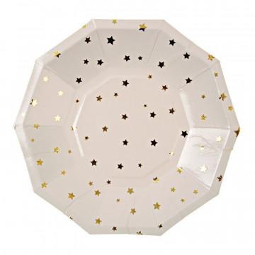 Platos fiesta hexagonal Estrellas Doradas