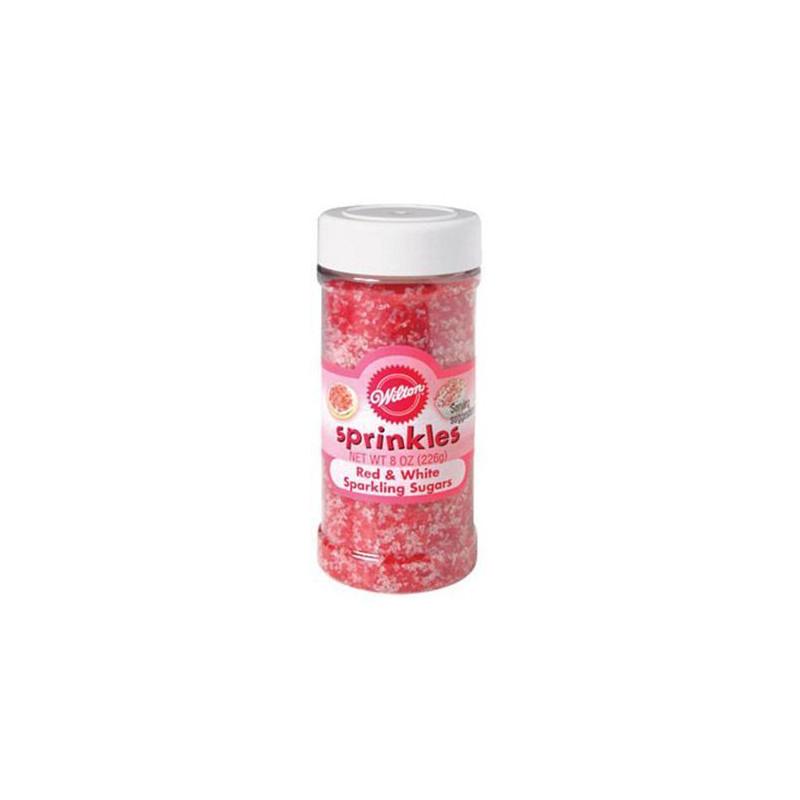Sprinkles Rojo y Blanco Sparkling Sugar Wilton