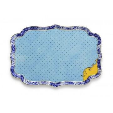 Bandeja de cerámica rectangular Azul Royal Pip Studio