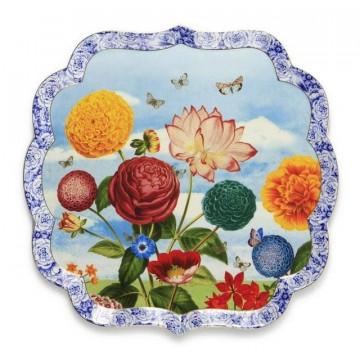 Bandeja de cerámica cuadrada Grande Royal Pip Studio