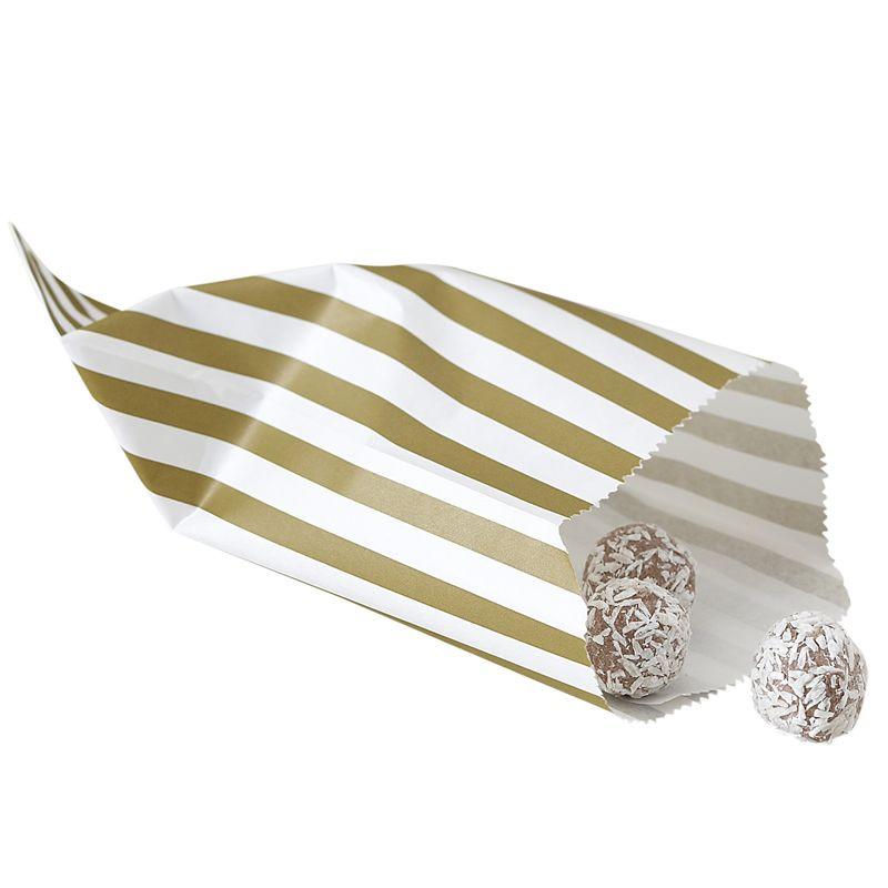 Bolsas de papel Rayas Oro