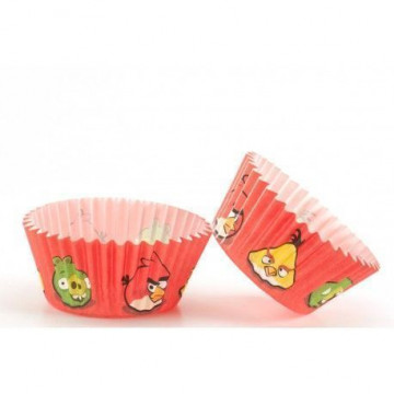 Cápsulas cupcakes Angry Birds