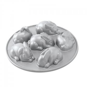 Molde bizcocho mini conejitos Nordic Ware