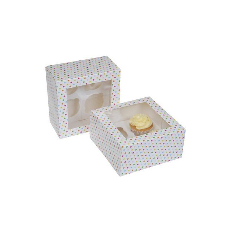 Pack 2 cajas para 4 cupcakes Confetti HoM