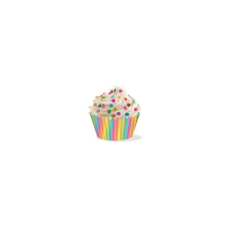 Cápsulas cupcakes anti grasa espiral multicolor Wilton
