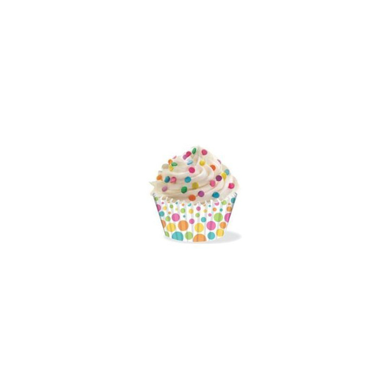 Cápsulas cupcakes anti grasa lunares multicolor Wilton