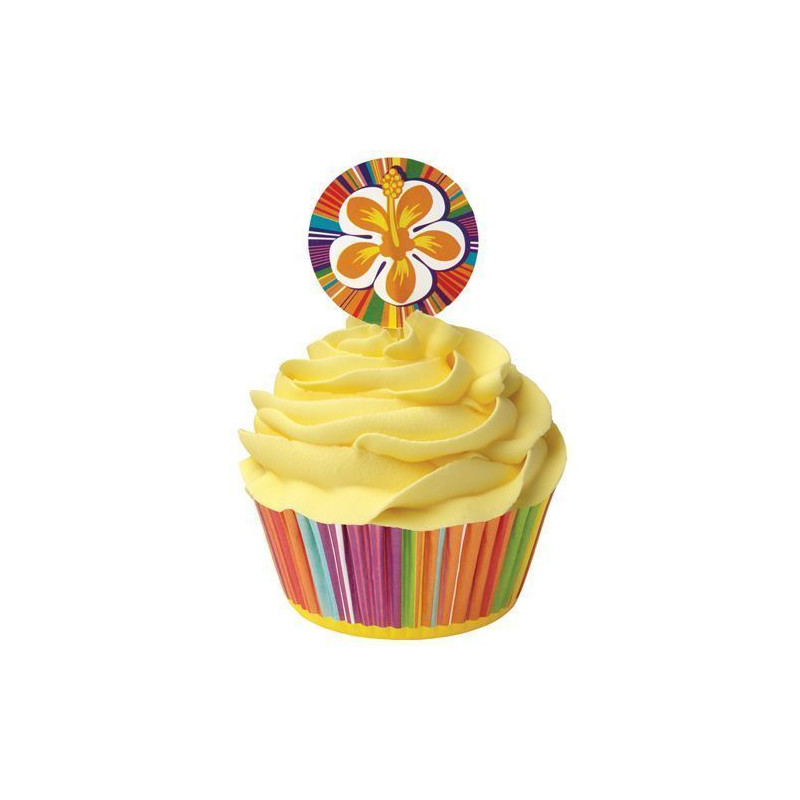 Set para cupcakes: Hibiscos Wilton