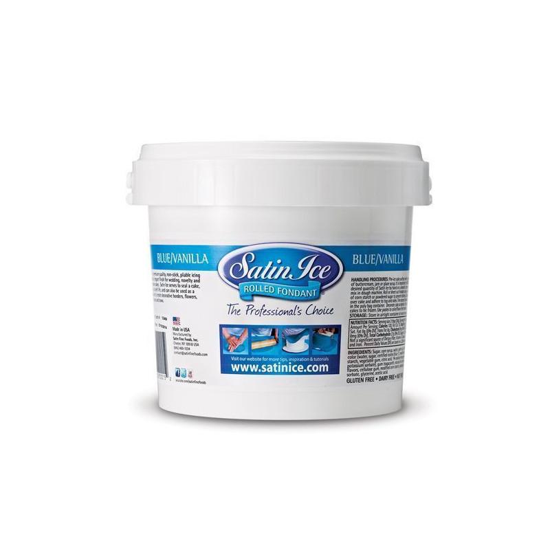 Fondant Azul sabor vainilla 1kg Satin Ice