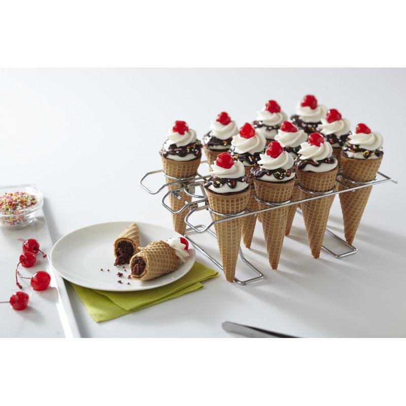 Stand de presentación y horneado Bizcochos en conos de helado Wilton