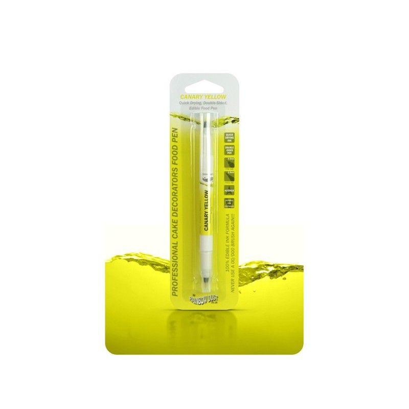 Rotulador comestible amarillo canario doble punta Rainbow Dust