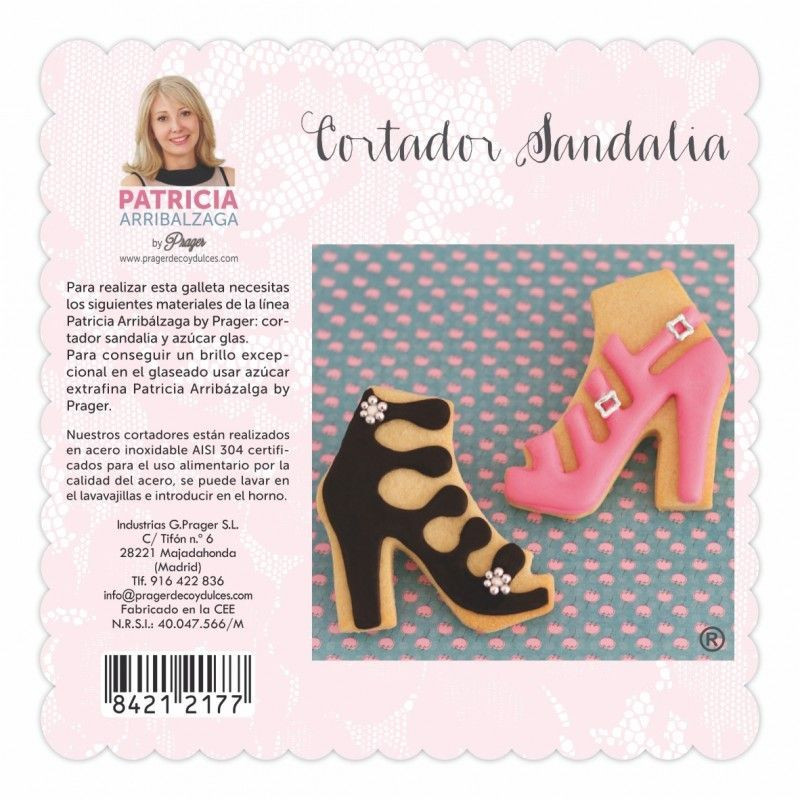 Cortante de galleta Sandalia Patricia Arribalzaga