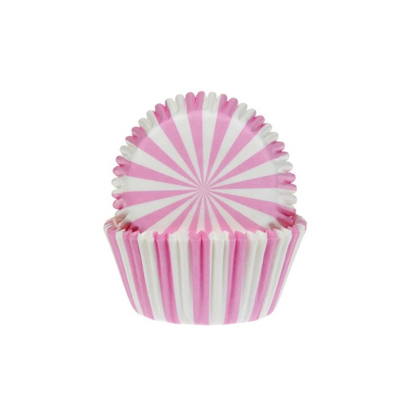 Cápsulas cupcakes Rayas Rosa HoM