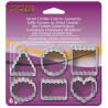 Cortante pack 6 mini cortantes geométricos con blondas