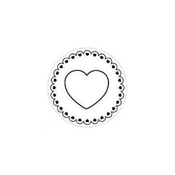 Sello silicona estampación galletas Corazón Artemio